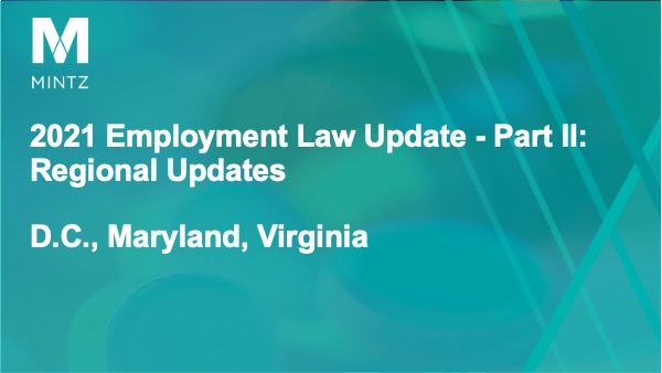 Session 5 - Regional Updates for DC, MD, VA