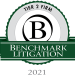 Benchmark Litigation 2021 Tier 2 Firm Award