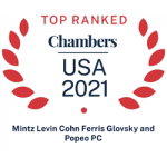 Chambers Top Ranked Law Firms 2021 Award
